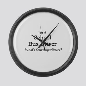 School Bus Driver Large Wall Clock